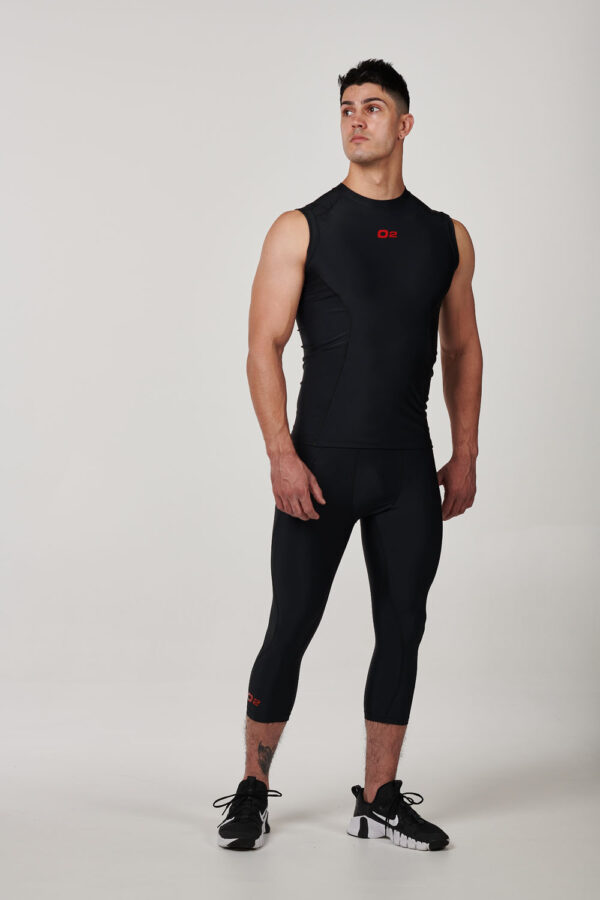MSIRBLKRED – Mens Black with Red Compression Singlet $29.99