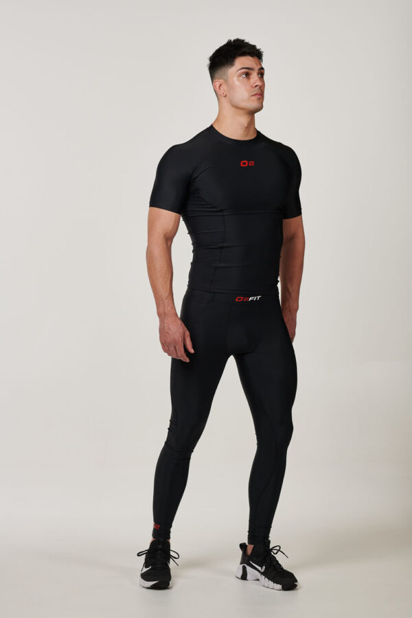MSTRBLKRED – Mens Black with Red Compression Tights $39.99 (1)
