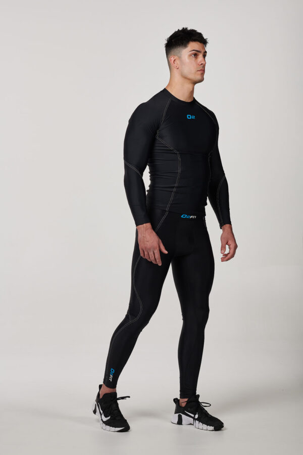Mens Black with White Compression Pants – $54.99