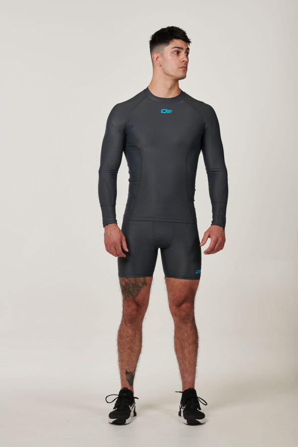 Mens Grey Long Sleeve Compression Top $39.99.jpg