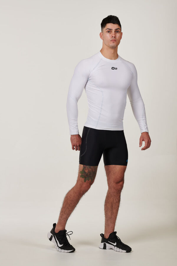 Mens White Long Sleeve Compression Top $39.99 (1)