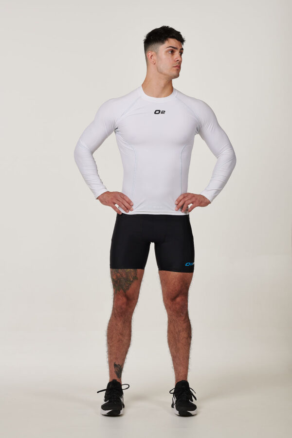 Mens White Long Sleeve Compression Top $39.99.jpg