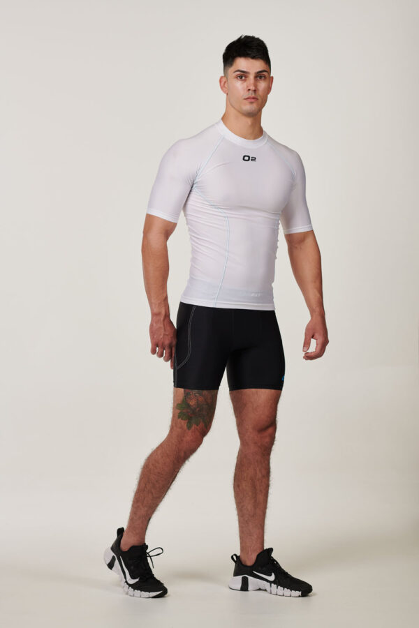 Mens White Short Sleeve Compression Top $39.99.jpg