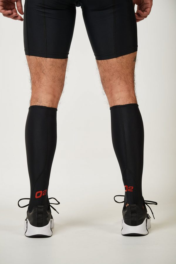 Unisex Calf Guard – Black with Red $19.99
