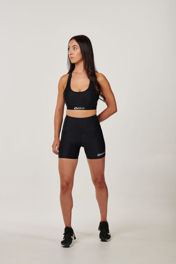 Womens Black High Waisted Compression 5 Shorts $45.99.jpg (1)