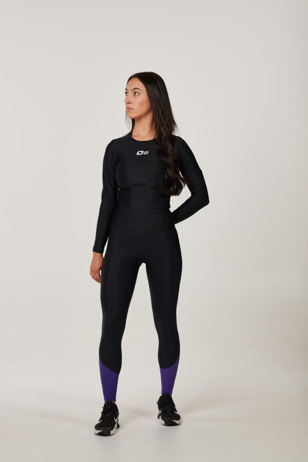 Womens Black Long Sleeve Compression Top – $39.99