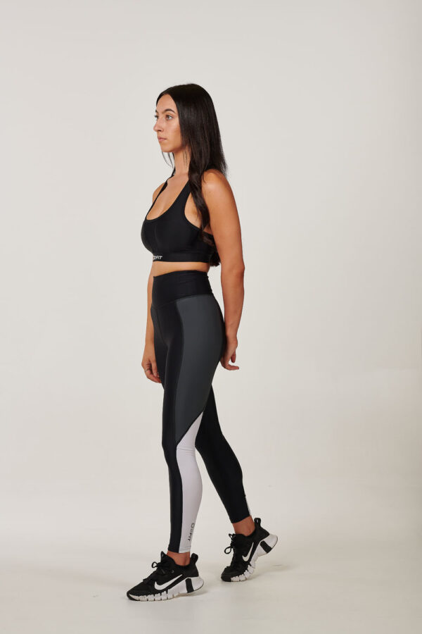 Womens Black with White & Grey High Waisted Tights $54.99 .jpg