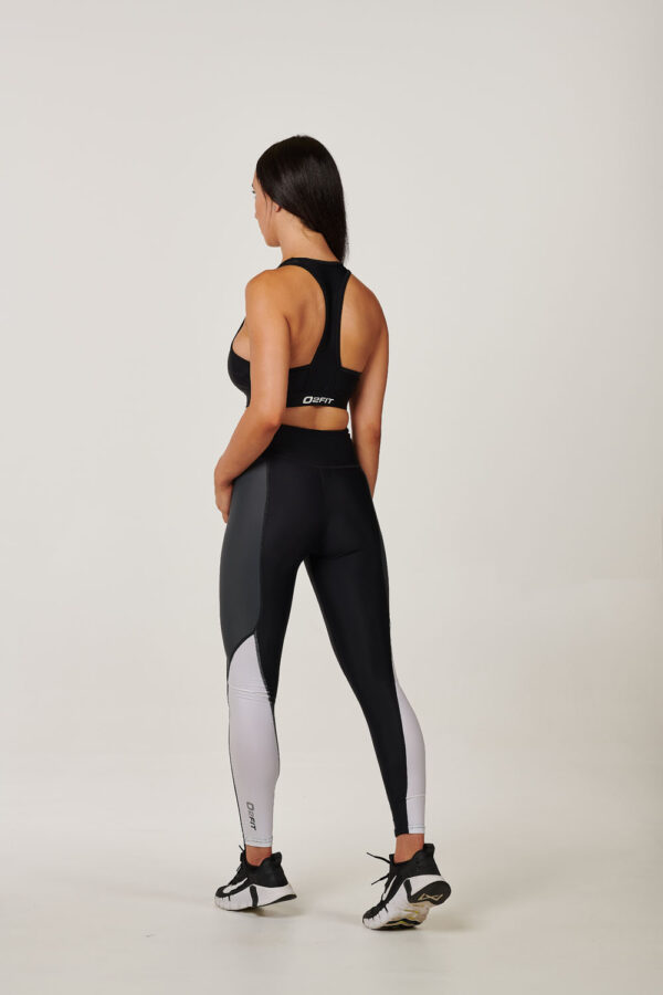 Womens Black with White & Grey High Waisted Tigths $54.99