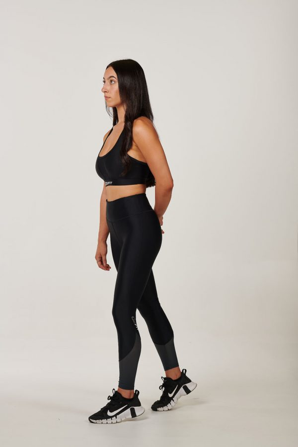 Womens High Waist Black with Charcoal Mesh Tights $49.99 (1)