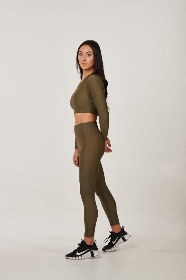 Womens High waist Khaki Compression Tights $49.99 (1)