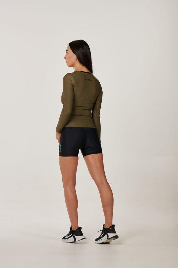Womens Khaki Long Sleeve Compression Top $34.99 (1)