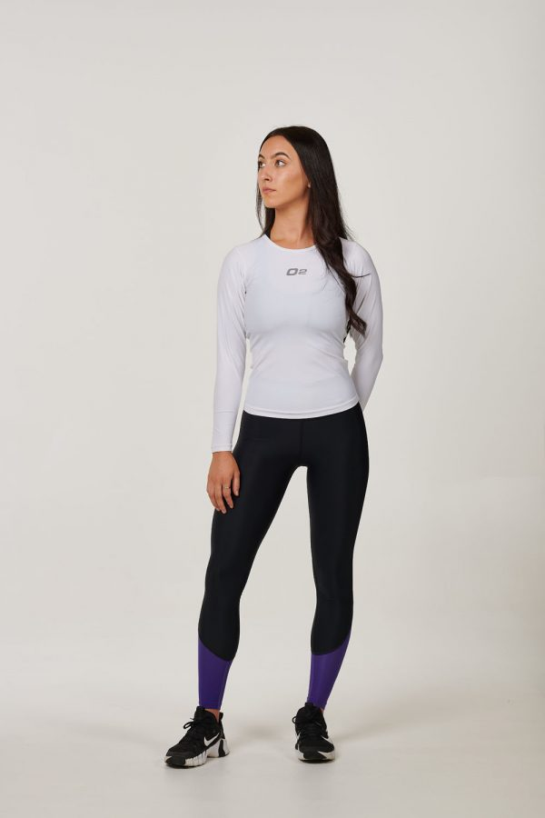 Womens White Long Sleeve Compression Top – $39.99
