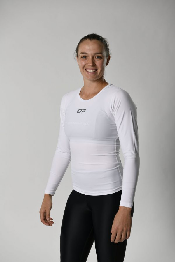 Womens White Long Sleeve Compression Top $39.99